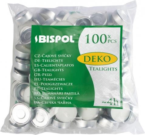 Podgrzewacze tealight 4h 100 sztuk w folii p10-100
