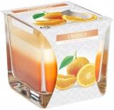 Świeca zapachowa trójkolorowa Pomarańcza snk80-63