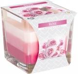 Świeca zapachowa trójkolorowa Róża snk80-78