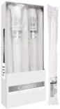 Świece stołowe stożkowe zestaw 10 szt. biały s30-1/10-090