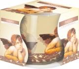 Świeca zapachowa Aniołki w szkle z wzorem sn71s-04