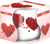 Świeca zapachowa Love w szkle z wzorem sn71s-05