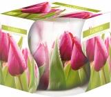 Świeca zapachowa Kwiaty w szkle z wzorem sn71s-07