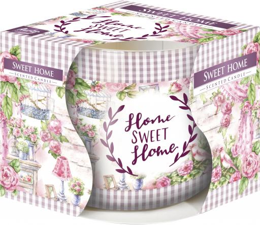 Świeca zapachowa Sweet Home w szkle z wzorem sn71s-11