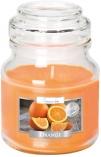 Świeca w szkle z wieczkiem Pomarańcza snd71-63