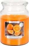 Duża świeca Pomarańcza w szkle z wieczkiem snd99-63
