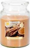 Duża świeca Cynamon w szkle z wieczkiem snd99-65