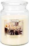 Duża świeca Wanilia w szkle z wieczkiem snd99-67