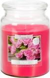 Duża świeca Róża w szkle z wieczkiem snd99-78