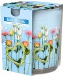 Świeca zapachowa Błękitny Ogród w prostym szkle z wzorem sn72s-08