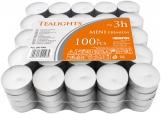 Podgrzewacze tealight 3h 100 sztuk w stosie pf8-100s