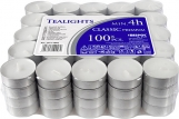 Podgrzewacze tealight minimum 4h 100 sztuk w stosie pf11-100s