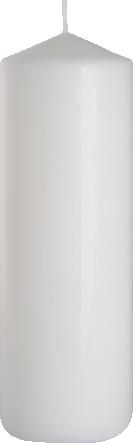 Świeca walec biała sw80/250-090