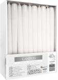 Świece stołowe stożkowe zestaw 40 szt. biały s30-40-090