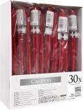 Świece stołowe stożkowe zestaw 30 szt. czerwony metalik s30-1-230