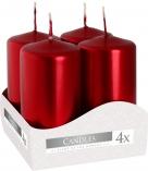 Świece wotywne czerwony metalik sw40/80-230