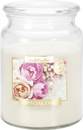 Duża świeca Wyjątkowy Dzień w szkle z wieczkiem snd99-288