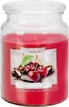 Duża świeca Czekolada - Wiśnia w szkle z wieczkiem snd99-104