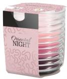 Świeca zapachowa trójkolorowa w karbowanym szkle Orientalna Noc snw80-272