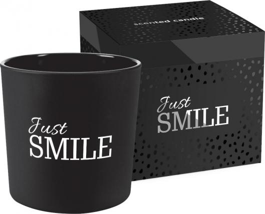 Świeca zapachowa w matowym szkle z dwoma knotami JUST SMILE sn100m-274