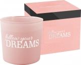 Świeca zapachowa w matowym szkle z dwoma knotami FOLLOW YOUR DREAMS sn100m-313