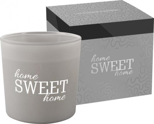 Świeca zapachowa w matowym szkle z dwoma knotami HOME SWEET HOME sn100m-316