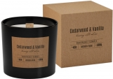 Świeca zapachowa z drewnianym knotem CEDARWOOD VANILLA sn100-81