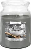 Duża świeca Grota Solna w szkle z wieczkiem snd99-313