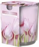 Świeca zapachowa Kwiatowa Radość w prostym szkle z wzorem sn72s-41