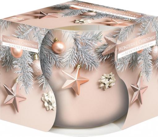 Świeca zapachowa Wspaniałe Święta w szkle z wzorem sn71s-52