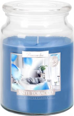 Duża świeca Antytabak w szkle z wieczkiem snd99-69