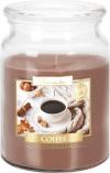 Duża świeca Kawa w szkle z wieczkiem snd99-89