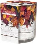 Świeca zapachowa Powitanie Jesieni w prostym szkle z wzorem sn72s-43