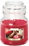 Świeca w szkle z wieczkiem Jabłko - Cynamon snd71-87