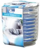 Świeca zapachowa w karbowanym szkle Niebieski Antytabak snw80-1-69