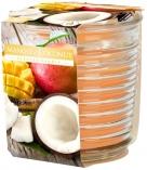 Świeca zapachowa w karbowanym szkle Pomarańczowy Mango-Kokos snw80-1-316