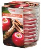 Świeca zapachowa w karbowanym szkle Czerwony Jabłko - Cynamon snw80-1-87