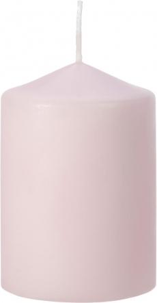 Świeca walec pudrowy róż mat sw70/100-438