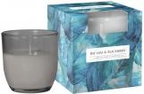 Świeca zapachowa w pastelowym szkle Liść laurowy-jeżyna sn75b-325