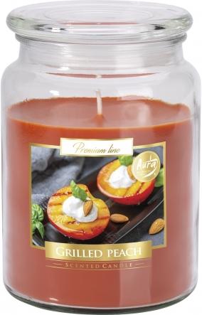 Duża świeca Grilowana brzoskwinia w szkle z wieczkiem snd99-331