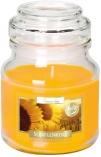 Świeca w szkle z wieczkiem Słoneczniki snd71-330