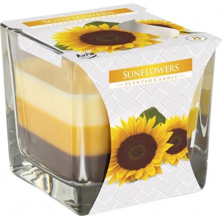 Świeca zapachowa trójkolorowa Słoneczniki snk80-330