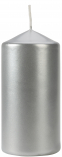 Świeca walec srebrny metalik sw60/120-271