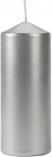 Świeca walec srebrny metalik sw60/150-271