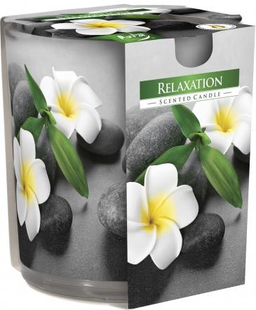 Świeca zapachowa Relaxation w prostym szkle z wzorem sn72s-50
