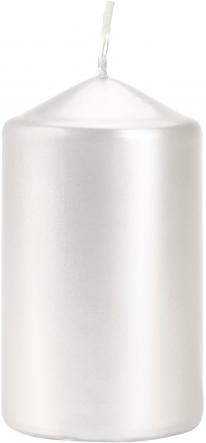 Świeca walec perłowa biel sw60/100-190